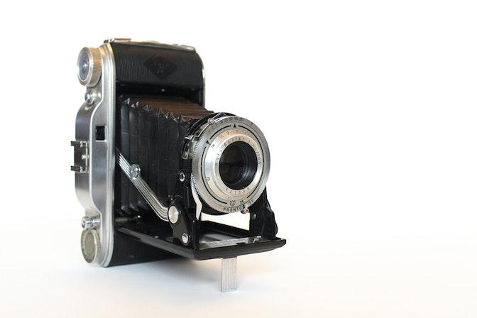 Photograph of a classic folding camera