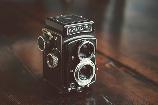 Photograph of a Rolleicord twin Lens reflex camera